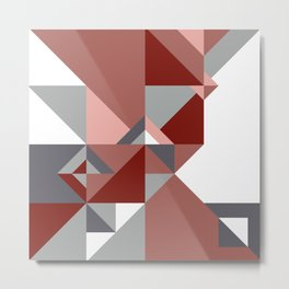 Geometry Design Pink Pattern Metal Print
