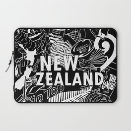 Kiwiana Doodle - Dark Laptop Sleeve