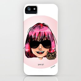 Britney Cartoon: Gower Girl iPhone Case