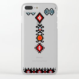 flowers in the snow Clear iPhone Case