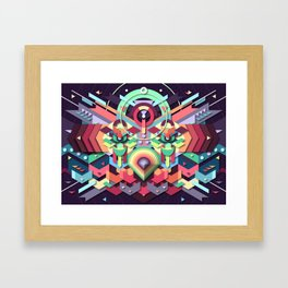BirdMask Visuals - Owl Framed Art Print