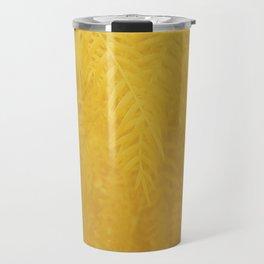 Gold Leaves Travel Mug