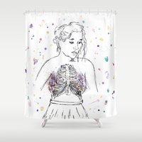 lungs Shower Curtains featuring Lungs by Sarah Hartnell