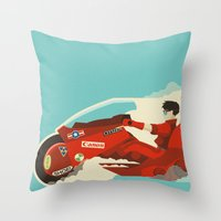 akira Throw Pillows featuring Akira by Danny Haas