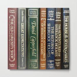 Books 2 Metal Print