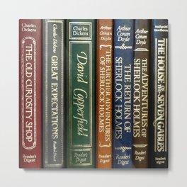 Books 2 Metal Print