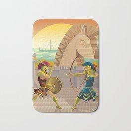 trojan war and troy horse Bath Mat