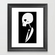 Inverted PARTY SKULL Framed Art Print