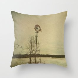 While the wind moans a dirge to a coyote's cry... Throw Pillow