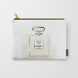Beige Perfume Carry-All Pouch