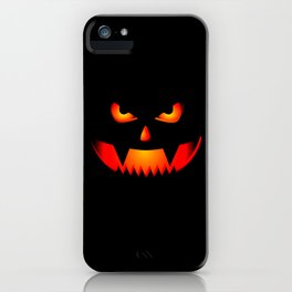 Scary Halloween Pumpkin print Gift For Halloween Party iPhone Case