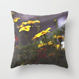 Nature - Wild Yellow Throw Pillow