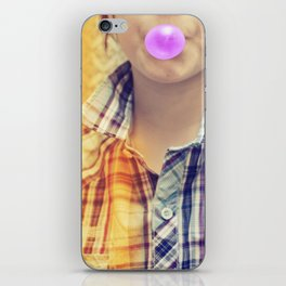 Vintage Chewing Gum Girl iPhone Skin