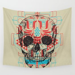 Skull Native Wall Tapestry