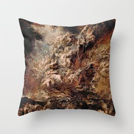 Peter Paul Rubens's The Fall of the Damned Throw Pillow