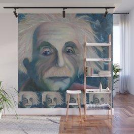 Albert Einstein, Original painting by Lu Wall Mural