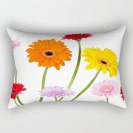 Colorful gerbera daisies Rectangular Pillow
