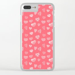 HAND DRAWN HEARTS Clear iPhone Case