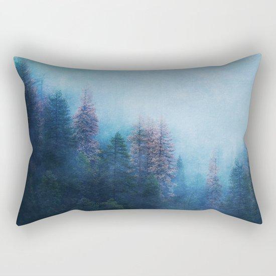 Dreamy Winter Forest Rectangular Pillow