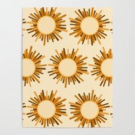 Art Deco Starburst Poster