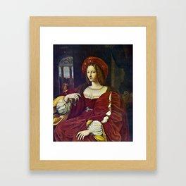Joanna of Aragon by Raphael Framed Art Print
