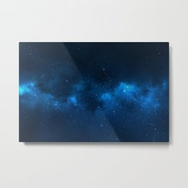 Fascinating view of the blue cosmic sky Metal Print