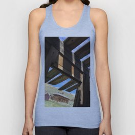 Ghost town barn Unisex Tank Top