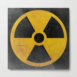 Radioactive Nuclear Reactor Yellow and Black Metal Print