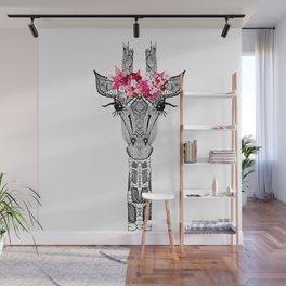 FLOWER GIRL GIRAFFE Wall Mural