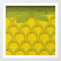 pineapple Art Prints featuring Pineapple by Kakel