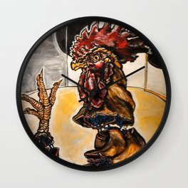 Space Rooster Wall Clock