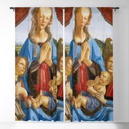 """Andrea del Verrocchio """"The Virgin And Child With Two Angels"""" Blackout Curtain"""