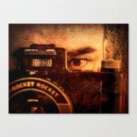 photographer Canvas Prints featuring Photographer by Jean-François Dupuis