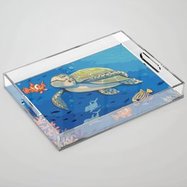 Under the Sea and Above the Coral Acrylic Tray