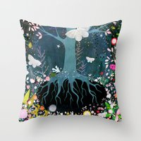 velvet underground Throw Pillows featuring Underground by Danse de Lune