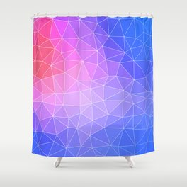 Abstract Colorful Flashy Geometric Triangulate Design Shower Curtain