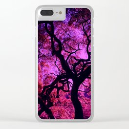 Under the Tree in Pink and Purple Clear iPhone Case