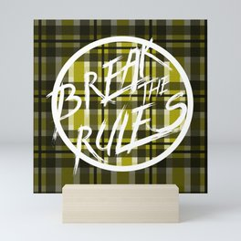 Break the Rules Yellow Mini Art Print