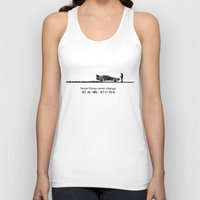 delorean Tank Tops featuring DeLorean by Tony Vazquez