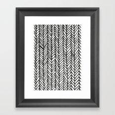 Black Threads Framed Art Print