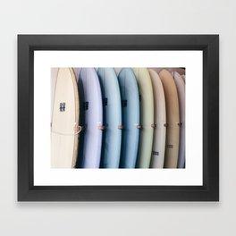 SURF'S UP / Los Angeles, California Framed Art Print