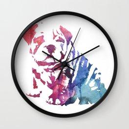 Dog paint Wall Clock