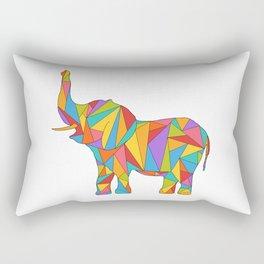 Polychromatic Elephant Rectangular Pillow
