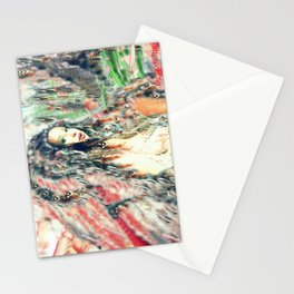Indian princess  feathered headdress by lady Kashmir  Stationery Cards
