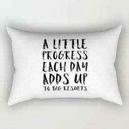 A Little Progress Motivational Quote Rectangular Pillow