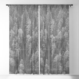 Road | Banff Gondola | Minimalist Landscape Photography | Nature Sheer Curtain