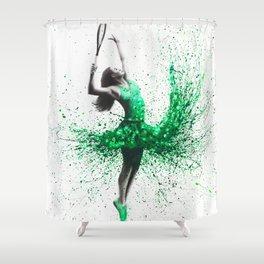 Wimbledon Woman Shower Curtain