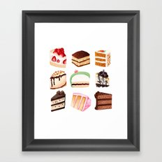 Yummy Cakes Framed Art Print
