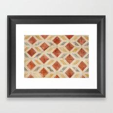 Rombos rojos Framed Art Print