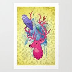 Antlers Variation II Art Print